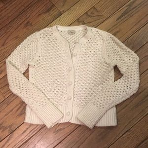 L.L.Bean white sweater